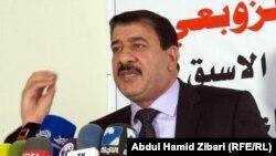 أمين عام حركة أبناء الرافدين سلام الزوبعي متحدثاً في أربيل