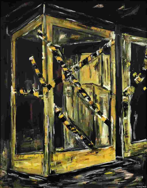 Werner Büttner, Cabină de telefon, (1982)