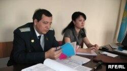 Мемлекеттік айыптаушы Александр Кирьяк. Алматы, 12 наурыз, 2009 жыл.