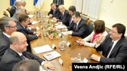 Susret premijera Srbije Ivice Dačića sa delegacijom Gasproma na čelu sa Aleksejem Milerom, 11. novembar 2013.