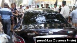 Çingiz Məmmədovun maşını / Foto: press24.az