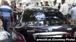 Автомобиль заместителя министра обороны, генерал-лейтенанта Чингиза Мамедова. Фото- press24.az, Баку