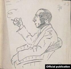 Францішак Аляхновіч. Партрэт невядомага мастака