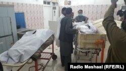 Фотографии предполагаемого тела Мансура в больнице Кветта.