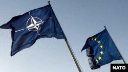 Zastave NATO-a i Evropske unije