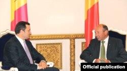 Premierul Vlad Filat şi preşedintele Traian Băsescu, Bucureşti, 22 septembrie 2011