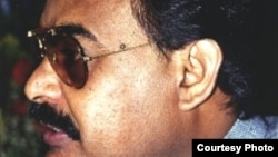 Pakistan: Photograph of Altaf Hussain, chairman Mutahidda Quomi Movement of Pakistan.