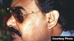 Pakistan: Photograph of Altaf Hussain, chairman Mutahidda Quomi Movement of Pakistan.
