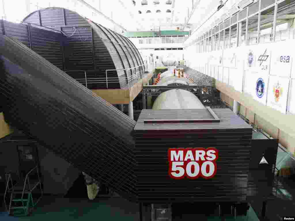 "A general view of the ""confinement modules"" where scientists will conduct the Mars-500 experiment."