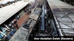 Stacioni i trenit në Egjipt ku ndodhi incidenti