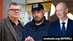 Віктар Бабарыка, Сяргей Ціханоўскі і Валер Цапкалаі, каляж