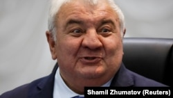 Yuri Khachaturov, the secretary-general of the Collective Security Treaty Organization, in Almaty in May