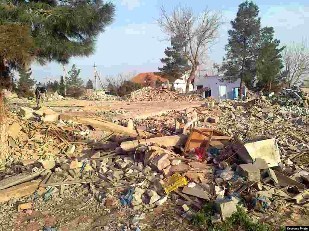 Дом Акмухаммета Байханова в Туркменистане сравняли с землей