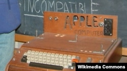 The handmade Apple I was Apple's first product, demonstrated in April 1976 in Palo Alto, California.