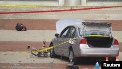 Оцепление у места нападения на территории университета в американском штате Огайо. Колумбус