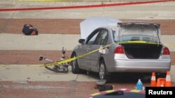 Оцепление у места нападения на территории университета в американском штате Огайо. Колумбус.