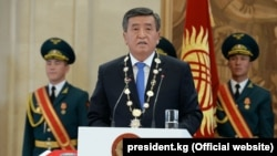 Sooronbai Jeenbekov was inaugurated as president on November 24.
