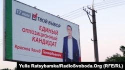Зовнішня реклама Світлани Єпіфанцевої використовує символіку «Опозиційного блоку», хоча сама вона є самовисуванкою. До того ж, кандидатка , так само, які і кандидат Загід Краснов, пише, що вона «єдиний опозиційний кандидат»