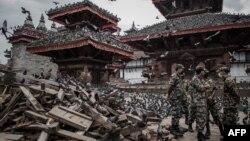 Історичний центр Катманду після землетрусу, 29 квітня 2015 року