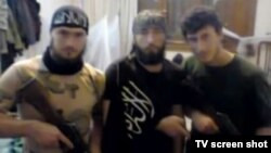 Unidentified fighters from Bosnia-Herzegovina in Syria are shown in file photo.
