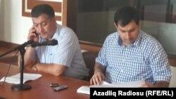 Rüfat Səfərov (sağ) və Bəhruz Bayramov, 07.09.2016