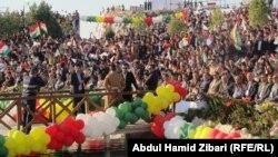 Празднование курдами Навроза в Ираке