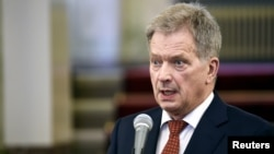 Finnish President Sauli Niinisto (file photo)