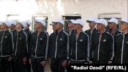 Tajikistan,Dushanbe city, tajik youth preparing for army service,22February2014