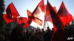 Одбележување на Денот на албанското знаме, Бујановац, ноември 2011.
