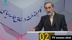 Ali Akbar Velayati, seen during a presidential debate ahead of this year's election, was Iran's minister of foreign affairs for 16 years, from 1981 to 1997.