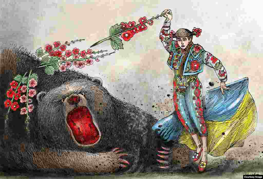 Автор:Oleksy Kustovsky (www.cartoonmovement.com/p/7733) Інтерв'ю з карикатуристом