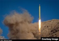 Испытание иранской баллистической ракеты
