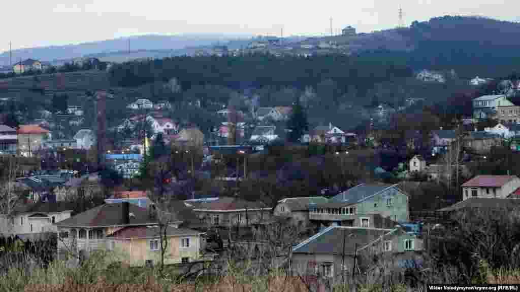 Вид на Добровскую долину перед сумерками