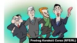 Corax ('Opa-cupa'), posljednja karikatura za RSE