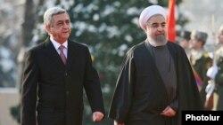 Serzh Sarkisian və Hasan Rouhani, Yerevan, 21 dekabr 2016-cı il