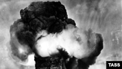 The first Soviet nuclear test in August 1949