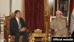 رئيس اقليم كردستان العراق مسعود بارزاني و الممثل الخاص لامين عام الامم المتحدة في العراق نيكولاي ملادينوف