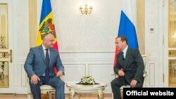 Moldova - Președintele Igor Dodon și premierul rus Dmitri Medvedev, 21 iunie 2019