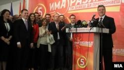 Nikola Gruevski na izbornoj konferenciji za novinare