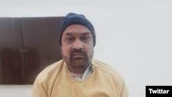 آرشیف/ رضوان راضی خبرنگار که در پاکستان بازداشت شدهاست