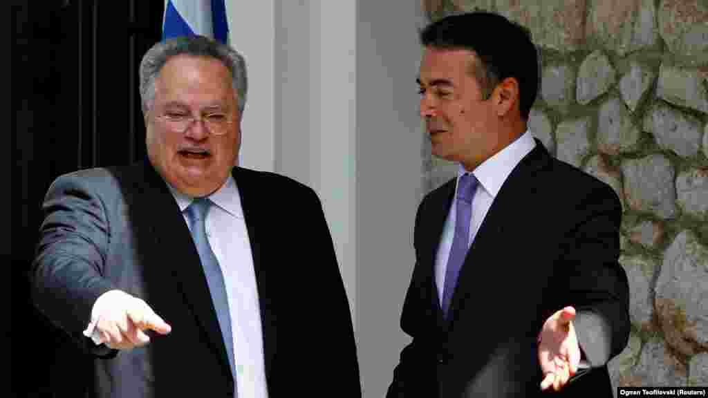 ГРЦИЈА / САД / МАКЕДОНИЈА - Грција ја поддржува потребата да се прифати име од предлозите на Нимиц, изјави шефот на грчката дипломатија Никос Коѕијас по средбата во Вашингтон со американскиот државен секретар Мајк Помпео.