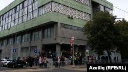 Мөштәри урамындагы студентлар ашханәсендә эвакуация