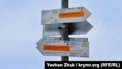 Указатели Большой севастопольской тропы