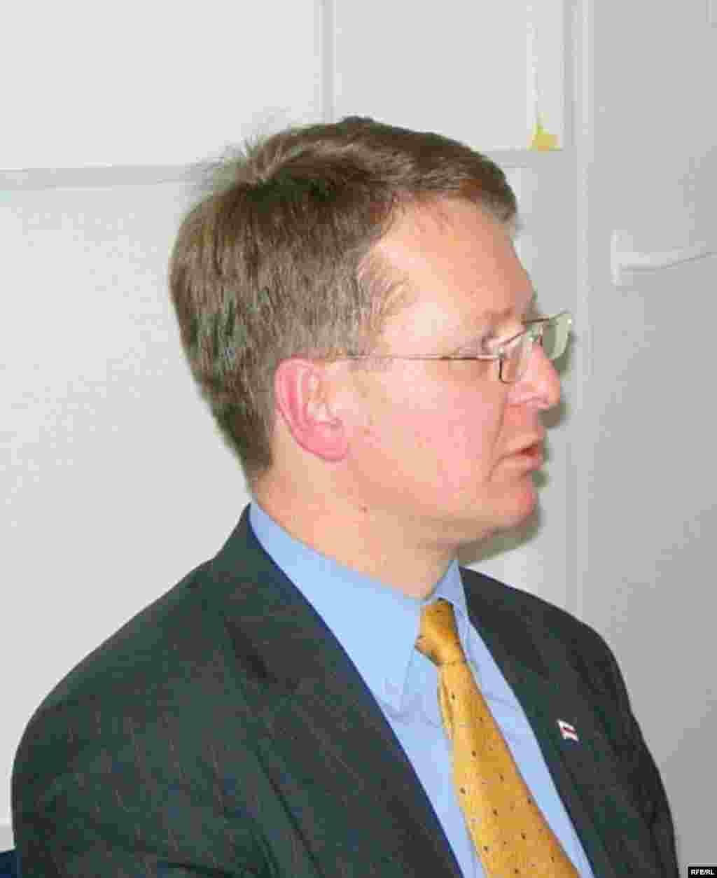 Лидер Белорусского народного фронта Винцук Вячерка
