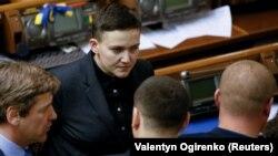 Надежда Савченко Жогорку радада. 15-март, 2018-жыл.