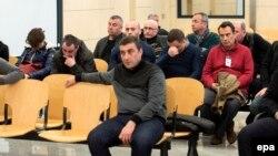Некоторые из граждан Грузии и России в испанском суде, 14 марта 2016 года