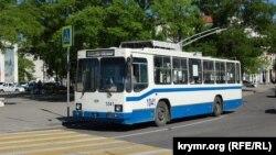Троллейбус в Севастополе, 14 мая 2018 года