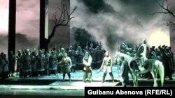 Сцена из спектакля «Турандот». Астана, июнь 2018 года.