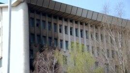Clădirea Parlamentului incendiat