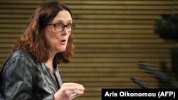 Европскиот комесар за трговија Сесилија Малмстром